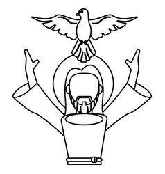 Jesus christ holy spirit catholic symbol outline vector