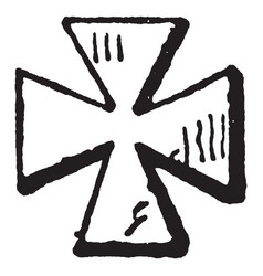 Maltese cross are from encyclopedia brittanica vector
