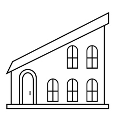 Modern house icon outline style vector