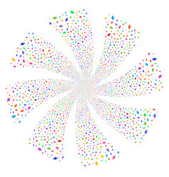 Mouse cursor fireworks swirl rotation vector