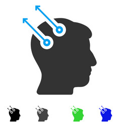 Neural interface plugs flat icon vector