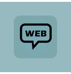Pale blue web message icon vector
