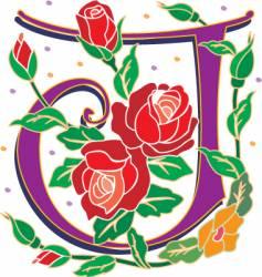 rosette letter J vector image vector image