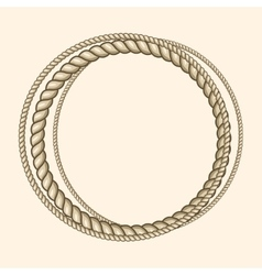 Round marine ropes frame for text vector