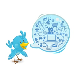 Social networking media bluebird vector
