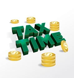 Tax time income tax concept vector