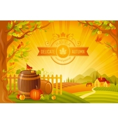 Thanksgiving of beautiful vector image vector image