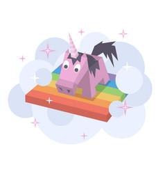 unicorn flat image vector image