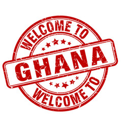welcome to ghana vector image vector image