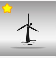 Wind turbines afloat vector