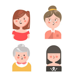 women from different generations isolated funny vector image vector image