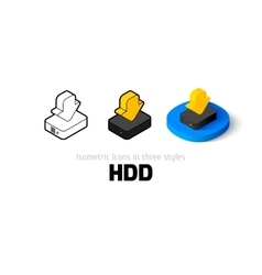 Hdd icon in different style vector