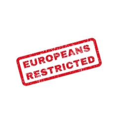 Europeans restricted text rubber stamp vector