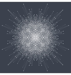 Fractal element with compounds lines and dots big vector