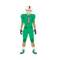 American football player in uniform and helmet vector
