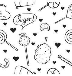 Hand draw of sweet candy doodle style vector