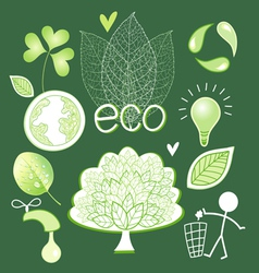 Graphics and icons ecology vector