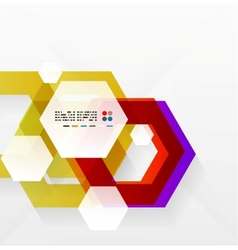 Rainbow hexagons modern design template vector