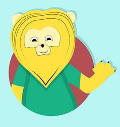 Lion cartoon icon emblem vector