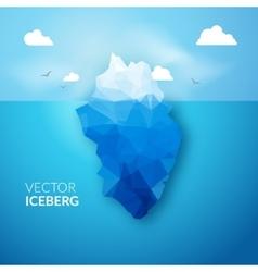 3d iceberg concept success vector