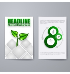 Set of brochure flyer design vector