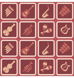Seamless background with musical instruments vector