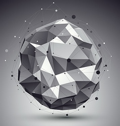 Triangular abstract grayscale 3d digital ep vector