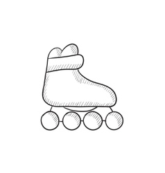 Roller skate sketch icon vector