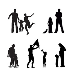 adult and children vector image vector image