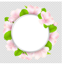 Apple tree flowers with speech bubble vector