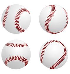 Baseball balls vector