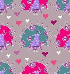 Bird pattern28 vector image