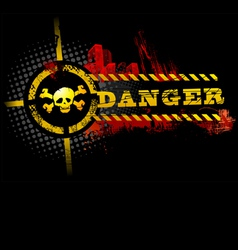 black urban grunge danger skull detailed vector image vector image