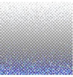 blue glitter background blue sparkles on border vector image vector image