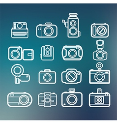 Camera icons of abstract blur backgrounds eps10 vector