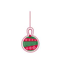 Cartoon garland christmas decoratives design vector