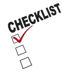 checklist graphic vector image vector image