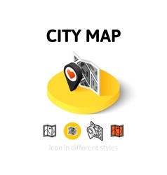 City map icon in different style vector