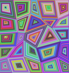 Colorful concentric rectangle mosaic background vector image