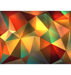Colorful Stained Glass Abstract Triangles vector image vector image