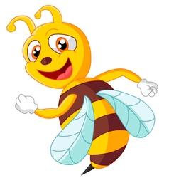 Cute bee posing vector image vector image