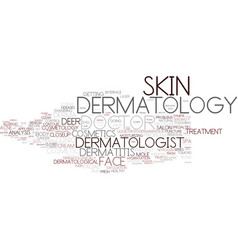 Dermatology word cloud concept vector