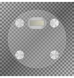 Digital scales weighing-machine vector image