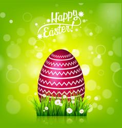 easter egg hunt green background april holidays vector image