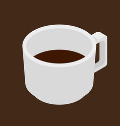 Espresso coffee cup isometric icon vector