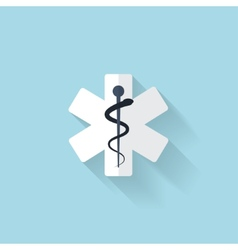 Flat web internet icon Ambulance symbol vector image