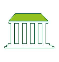 Governmental building isolated icon vector