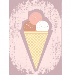 ice-cream poster vector image vector image