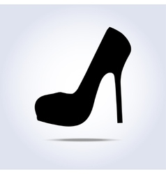 Lady shoe icon with shadow vector image vector image
