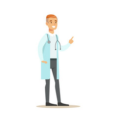 male therapist doctor wearing medical scrubs vector image vector image